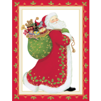 Santa Claus Embossed Boxed Christmas Cards