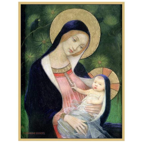 Caspari Madonna of the Fir Tree Boxed Christmas Cards