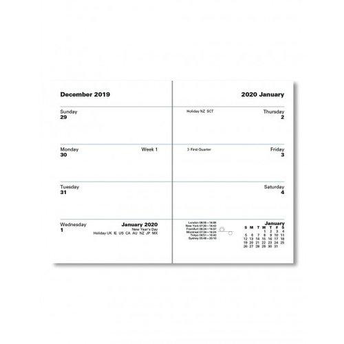 Classic Mini Pocket Sunday Start Week to View Diary 2020 Dark Blue