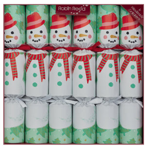 Robin Reed Racing Snowmen Party Crackers