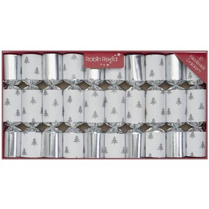 Robin Reed Robin Reed Silver Glitter Tree Party Crackers