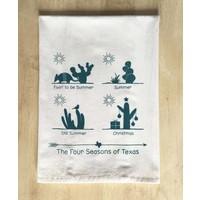 Four Seasons of Texas Tea Towel