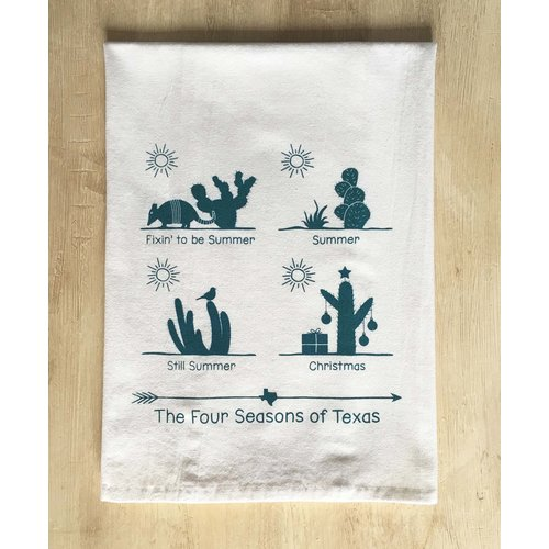 Four Seasons of Texas Tea Towel
