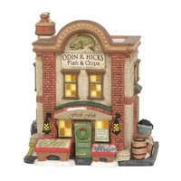 Dickens' Village Series - Odin R. Hicks Fish & Chips