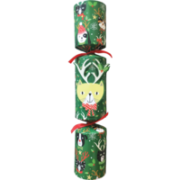 Caspari Cat With Antlers Pet Toy Christmas Cracker