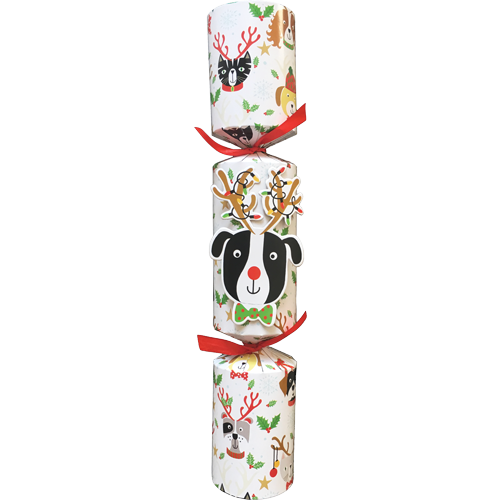 Caspari Caspari Dog With Antlers Pet Toy Christmas Cracker