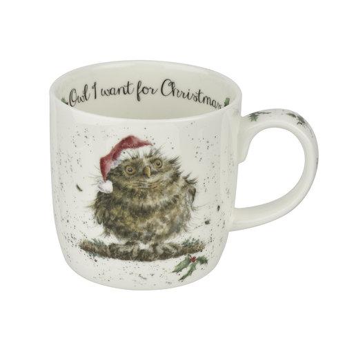 Wrendale Wrendale Owl I Want For Christmas Mug
