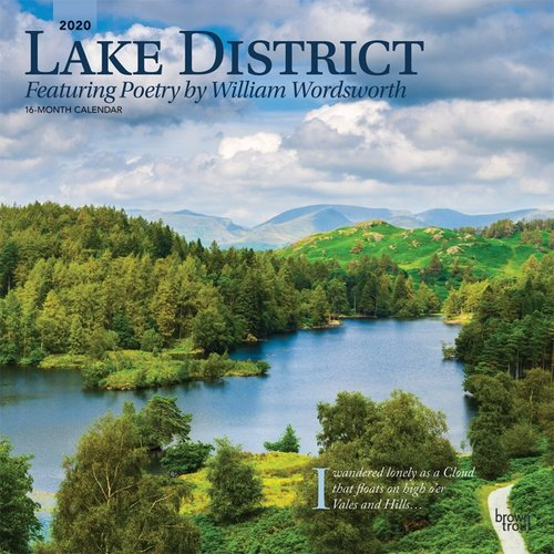 2020 Lake District 16 Month Calendar 12x12in