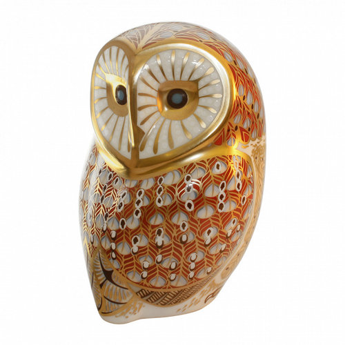 Royal Crown Derby Barn Owl Figurine