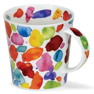 Dunoon Dunoon Cairngorm Blobs! Orange Mug