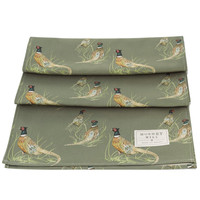 Mosney Mill Pheasant Table Runner Sage Green