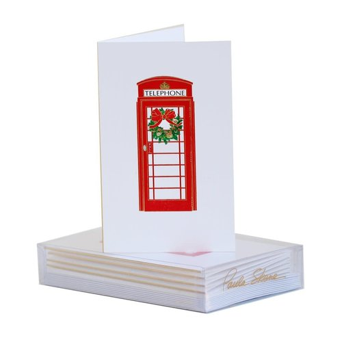 Paula Skene Paula Skene London Phone Booth Wreath Mini Note Cards