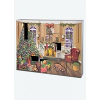 Fireside Wooden Advent Calendar