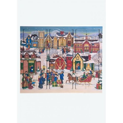 Christmas Village Wooden Advent Calendar