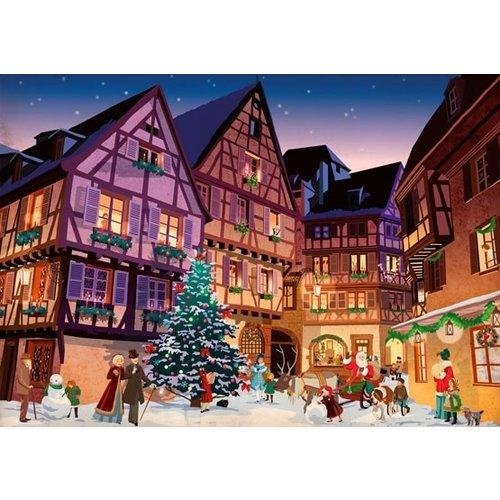 Piatnik Vintage Christmas Village Puzzle