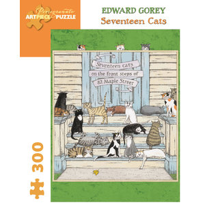 Pomegranate Edwary Gorey Seventeen Cats Puzzle