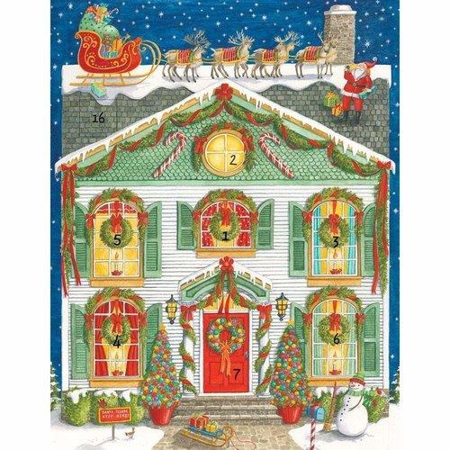 Caspari Caspari Home for Christmas Advent Calender