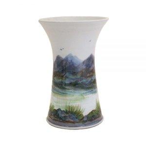 Highland Stoneware Highland Stoneware Medium Landscape Cylinder Vase