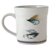Highland Stoneware Fishing Fly Mug
