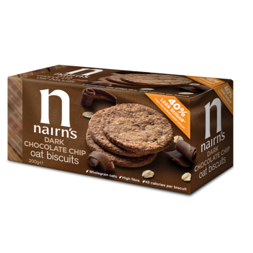 Nairn's Nairns Dark chocolate chip oat biscuits