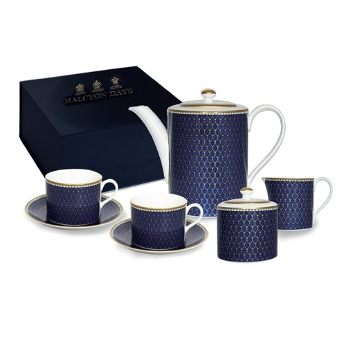 Halcyon Days Halcyon Days Antler Trellis Midnight Tea for Two Boxed Set