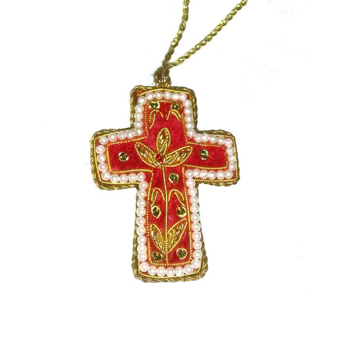 St. Nicolas St. Nicolas Mini Red Cross Ornament