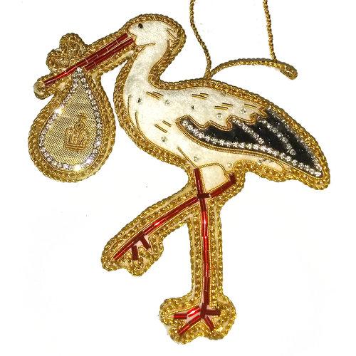 St. Nicolas St. Nicolas Royal Baby 2019 Stork Ornament