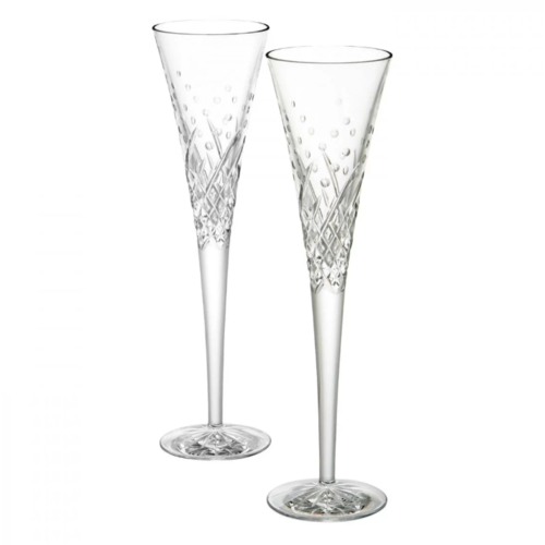Waterford Waterford Wishes Celebrations Toasting Flutes PAIR