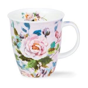 Dunoon Nevis Peonies White Mug
