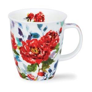 Dunoon Nevis Peonies Red Mug