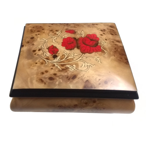 Splendid Music Box Co. Red Roses Box