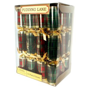 Pudding Lane Pudding Lane Tartan and Gold 12 Count
