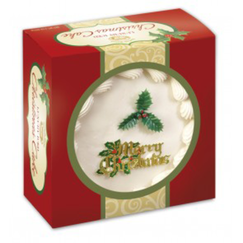 Norfolk Manor Top Iced Christmas Cake