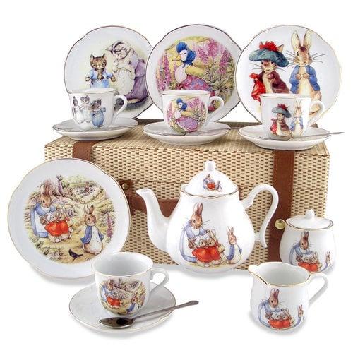 Peter Rabbit Tea Set for 4 - Picnic Basket