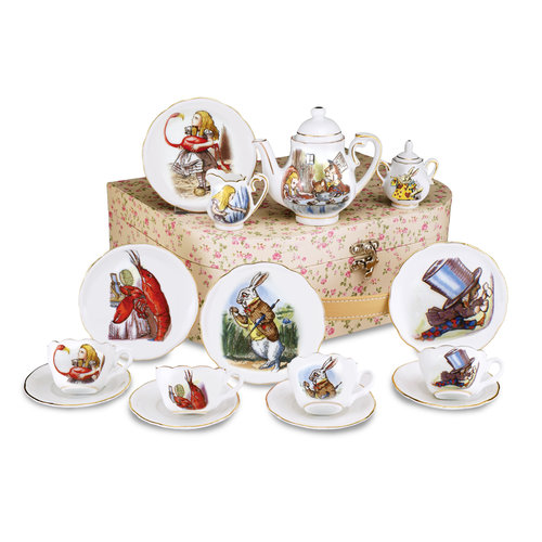 Reutter Porzellan Alice in Wonderland Tea Set for 4