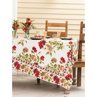 April Cornell Poppy Tablecloth Long