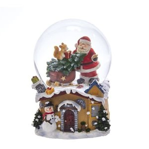 Kurt Adler 100 mm Santa Musical Waterglobe