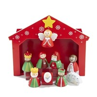 Children's Wooden Nativity Scene