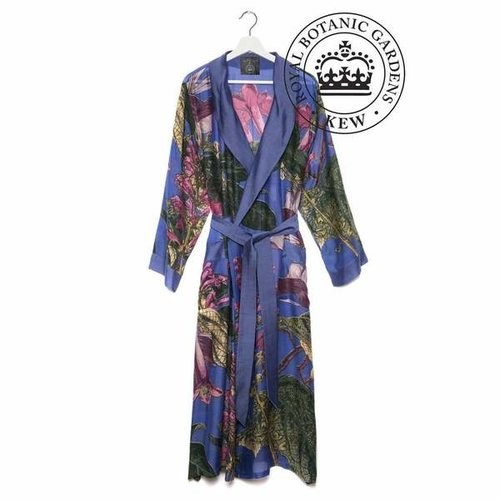 One Hundred Stars & Royal Botantical Gardens Kew One Hundred Stars Purple Magnolia Robe Gown
