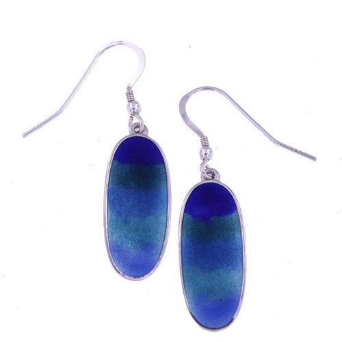 St. Justin Ocean Enamelled Drop Earrings