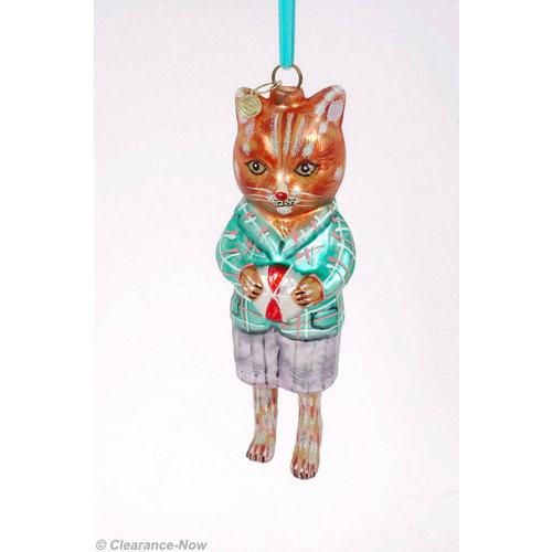 Glitterville  Cat Ornament