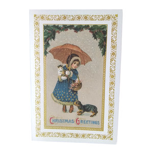 Boxed Christmas Cards - Girl with Umbrella