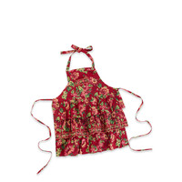 Red Russia Collar Apron
