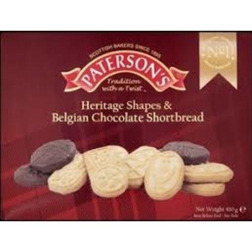 Paterson's Shapes Belgian Chocolate Shortbread