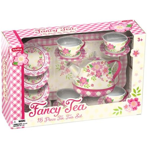 Schylling Shylling Fancy Children's Tin Tea Set