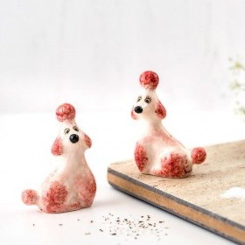 Hannah Turner Hannah Turner Salt & Pepper Shakers Poodle Pink