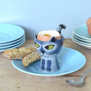 Hannah Turner Hannah Turner Grey Tabby Cat Egg Cup