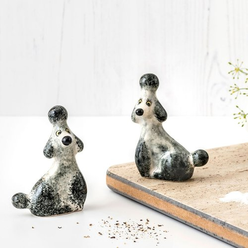Hannah Turner Hannah Turner Poodle Grey Salt & Pepper Shakers