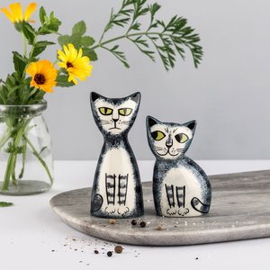 Hannah Turner Hannah Turner Salt & Pepper Shakers Grey Tabby Cat