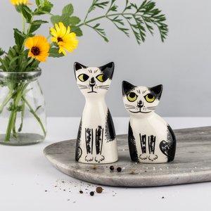 Hannah Turner Hannah Turner Cat Black & White Salt & Pepper Shakers